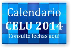 Celu 2013 - Calendario